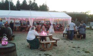 Pop-up restaurant on the Beaulieu River