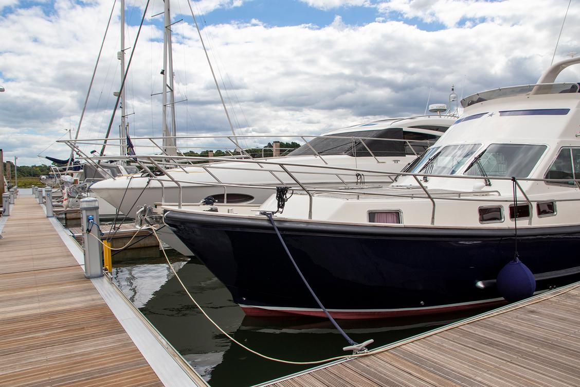 Buckler's Hard Yacht Harbour marina pontoon