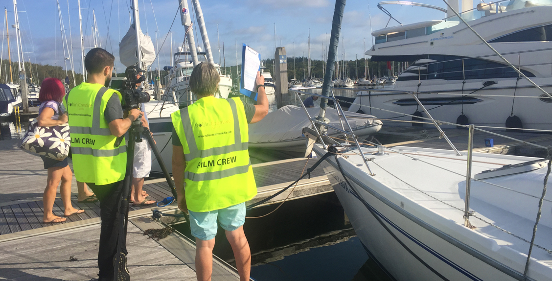 Film shoot with Robin Creative Media at Buckler's Hard Yacht Harbour