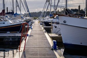 Berths in the Buckler's Hard Yacht Harbour marina