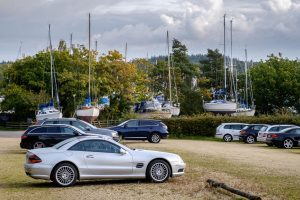 Car park at Buckler's Hard Yacht Harbour