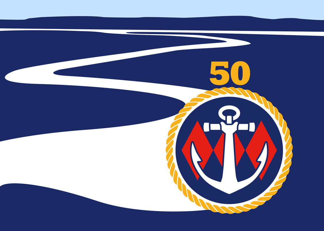 Beaulieu River Golden Anniversary burgee design by Philip Dyke