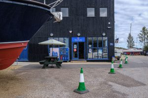 Chandlery and Marina Reception at Buckler's Hard Yacht Harbour