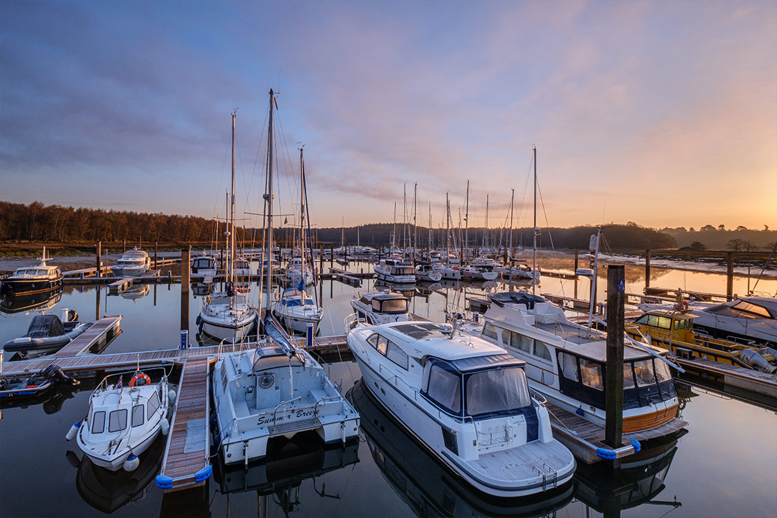 Permanent berths at Buckler's Hard Yacht Harbour