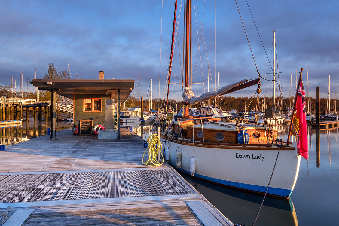 Visitor Pontoon at Buckler's Hard Yacht Harbour