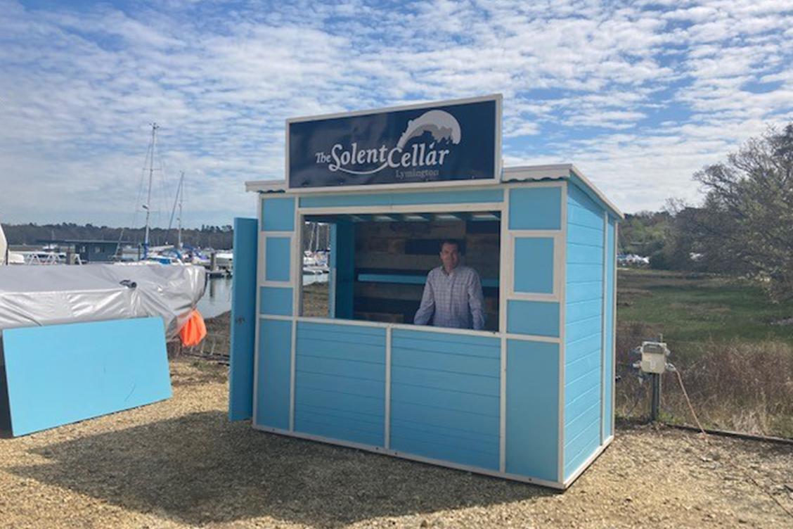 Solent Cellar Pop-Up Bar at Buckler's Hard Yacht Harbour